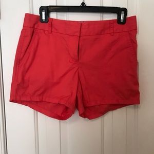 Size 2 JCrew Pink Chino Shorts